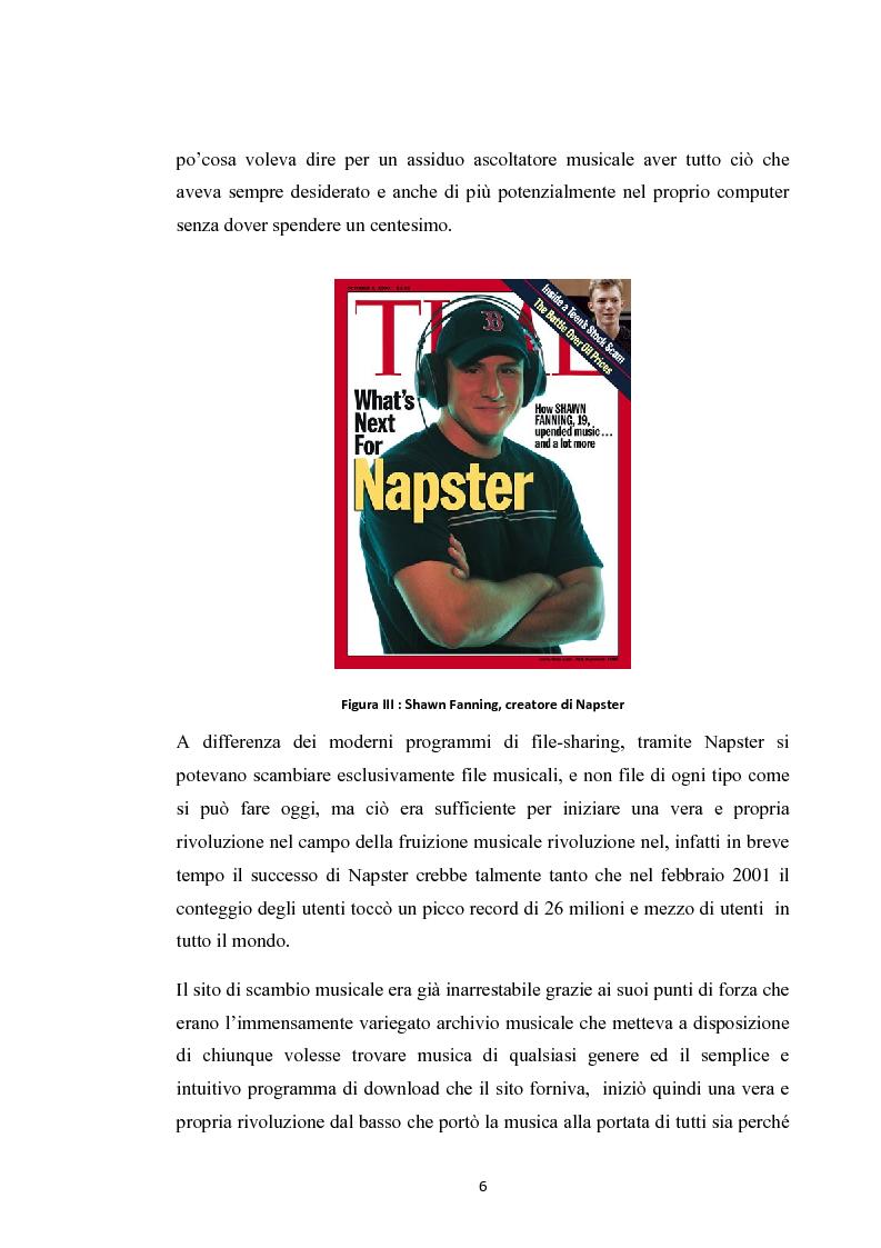 Anteprima della tesi: La social music: la fruizione musicale dal file sharing al social networking, Pagina 4