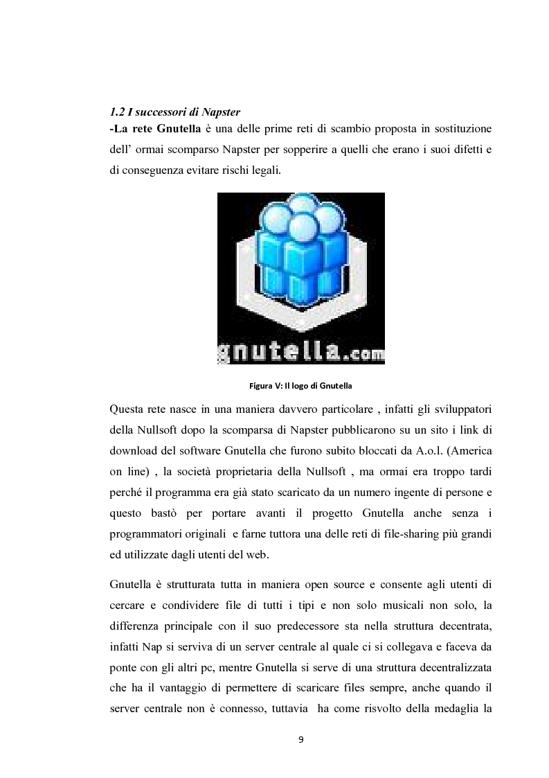 Anteprima della tesi: La social music: la fruizione musicale dal file sharing al social networking, Pagina 7