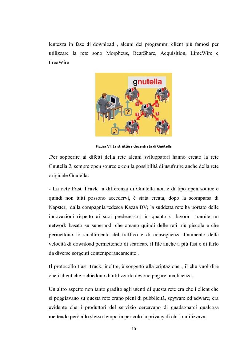 Anteprima della tesi: La social music: la fruizione musicale dal file sharing al social networking, Pagina 8