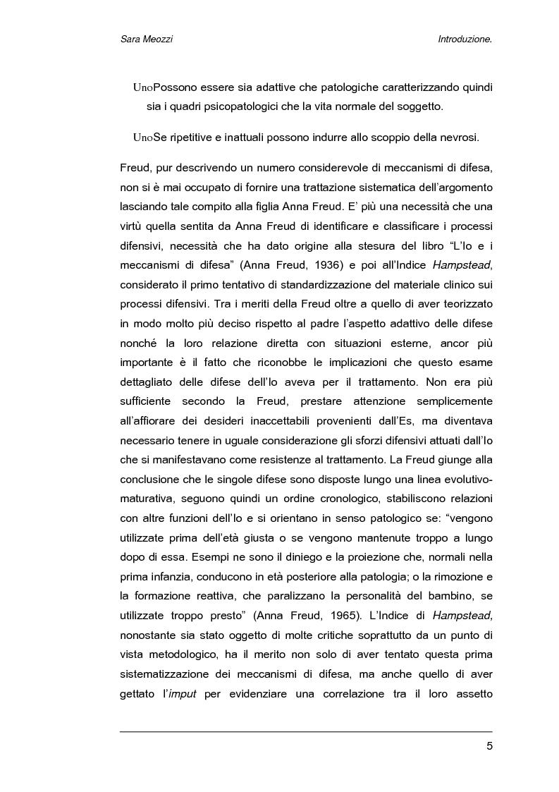Anteprima della tesi: Meccanismi di difesa e strategie di coping, Pagina 2