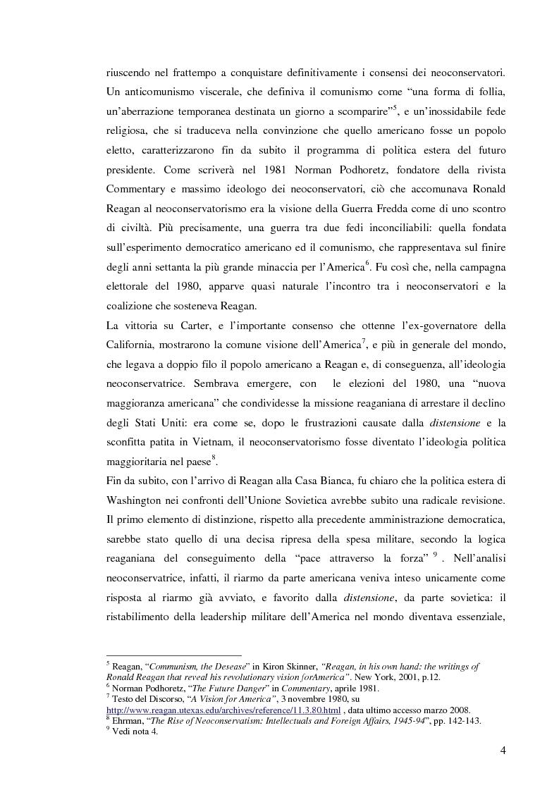 Anteprima della tesi: La Retorica di Reagan: dalla Crisi della Distensione all' ''Impero del male'', Pagina 2