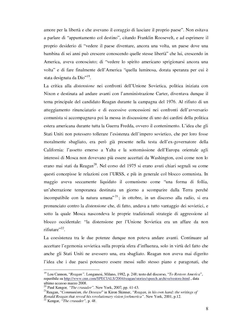 Anteprima della tesi: La Retorica di Reagan: dalla Crisi della Distensione all' ''Impero del male'', Pagina 6
