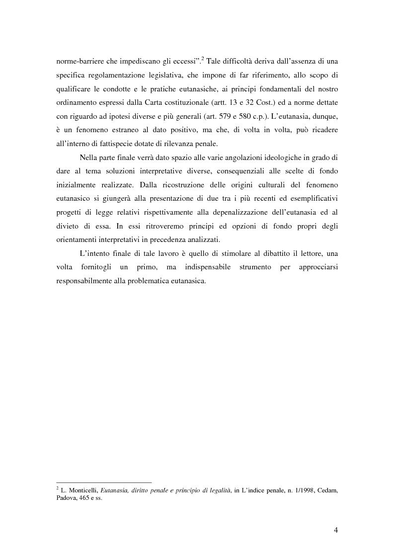 Anteprima della tesi: Riflessioni filosofico-giuridiche sul fenomeno eutanasico in Italia, Pagina 2