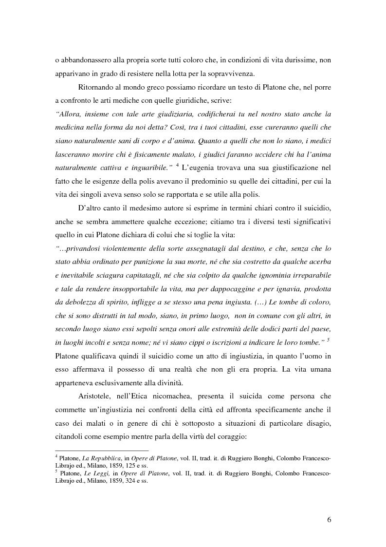 Anteprima della tesi: Riflessioni filosofico-giuridiche sul fenomeno eutanasico in Italia, Pagina 4