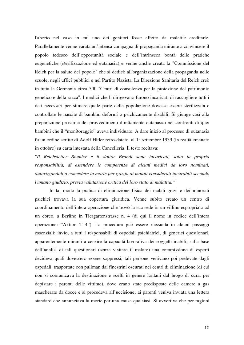 Anteprima della tesi: Riflessioni filosofico-giuridiche sul fenomeno eutanasico in Italia, Pagina 8