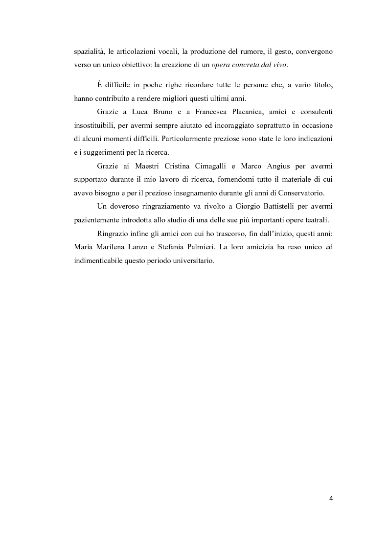 Anteprima della tesi: Dall'Opus all'Opera: Experimentum Mundi di Giorgio Battistelli, Pagina 2