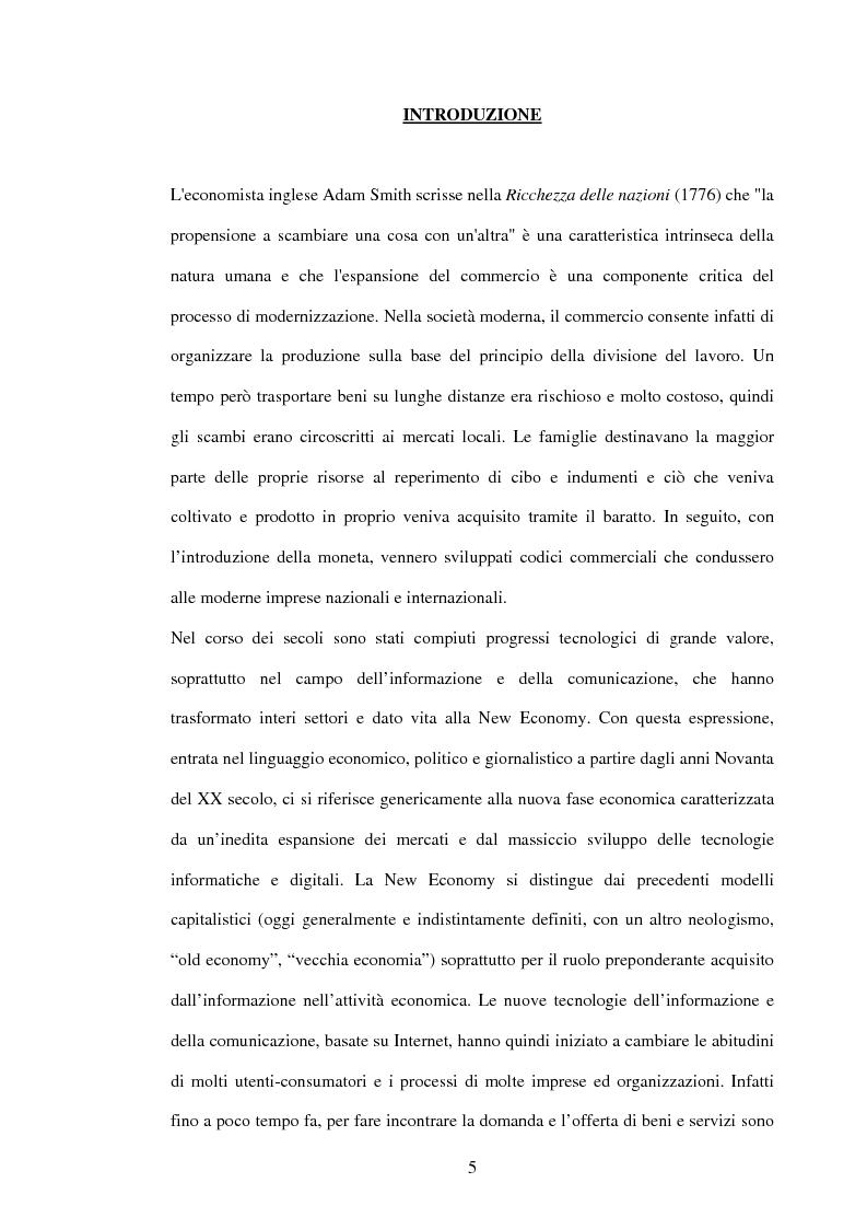 Anteprima della tesi: L'economia dell'e-commerce, Pagina 1