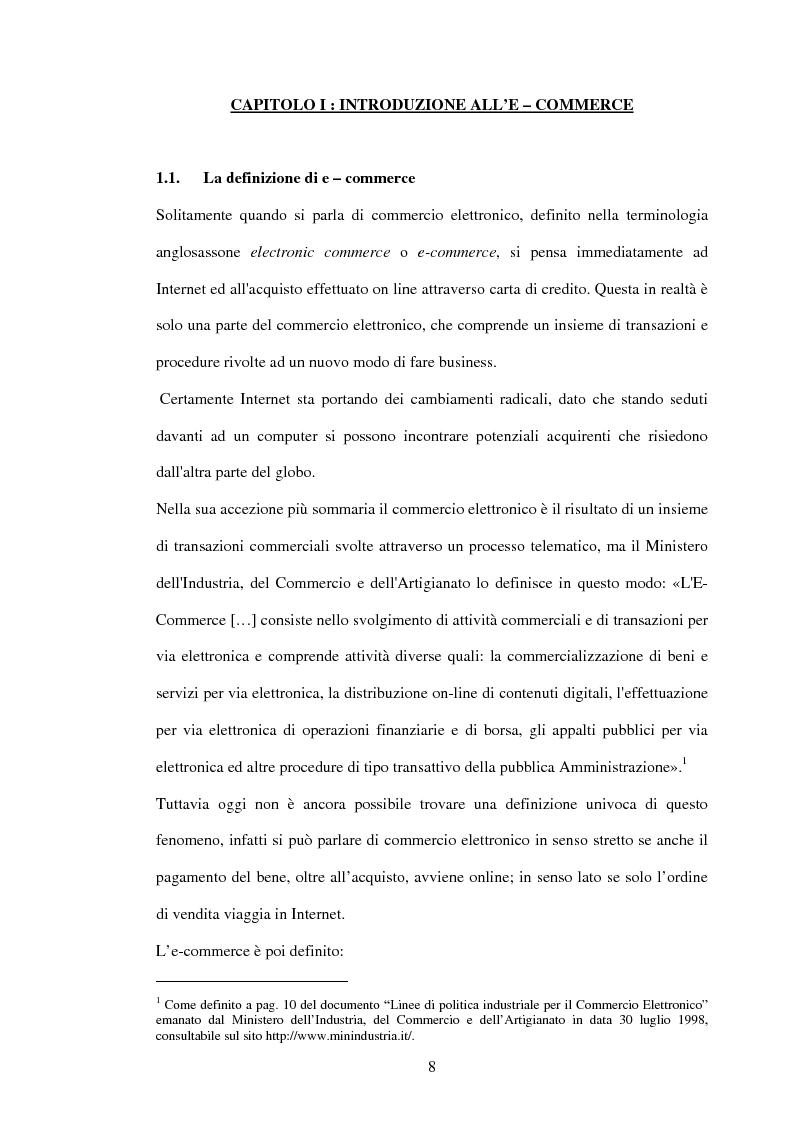Anteprima della tesi: L'economia dell'e-commerce, Pagina 4