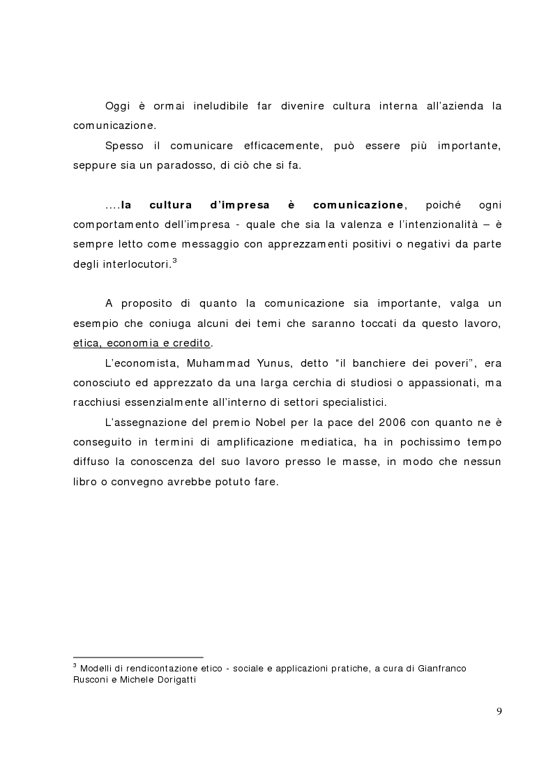 Anteprima della tesi: Il bilancio sociale nelle banche di credito cooperativo, il caso della Cassa Rurale di Fiemme, Pagina 4
