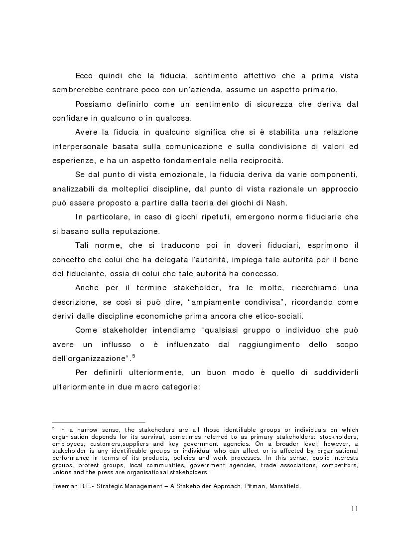 Anteprima della tesi: Il bilancio sociale nelle banche di credito cooperativo, il caso della Cassa Rurale di Fiemme, Pagina 6