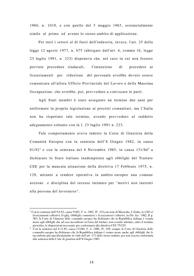 Anteprima della tesi: Licenziamenti collettivi e criteri di scelta, Pagina 2