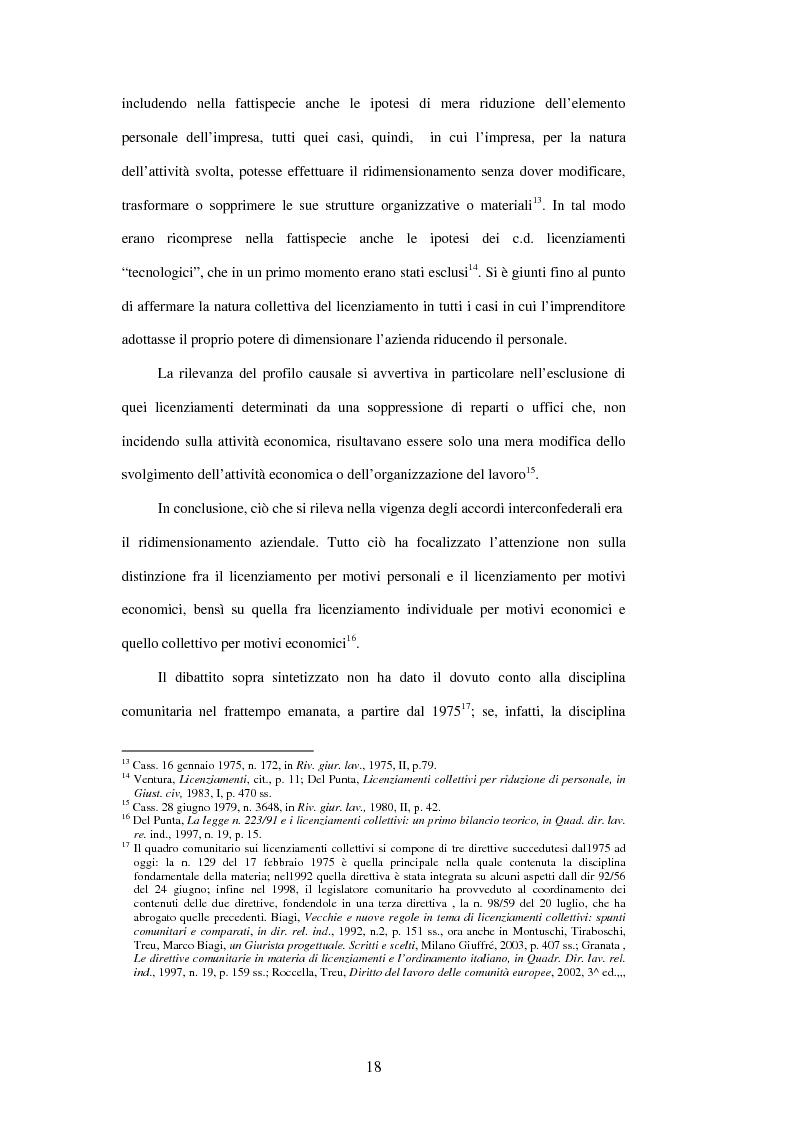 Anteprima della tesi: Licenziamenti collettivi e criteri di scelta, Pagina 6