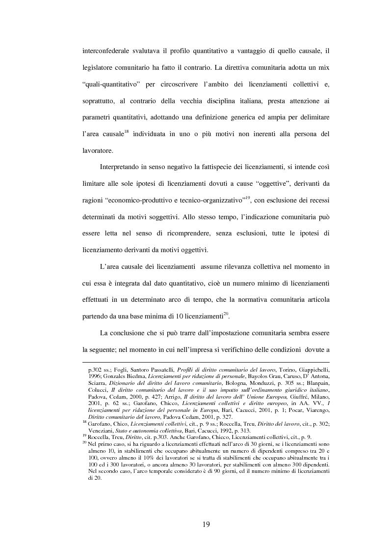 Anteprima della tesi: Licenziamenti collettivi e criteri di scelta, Pagina 7