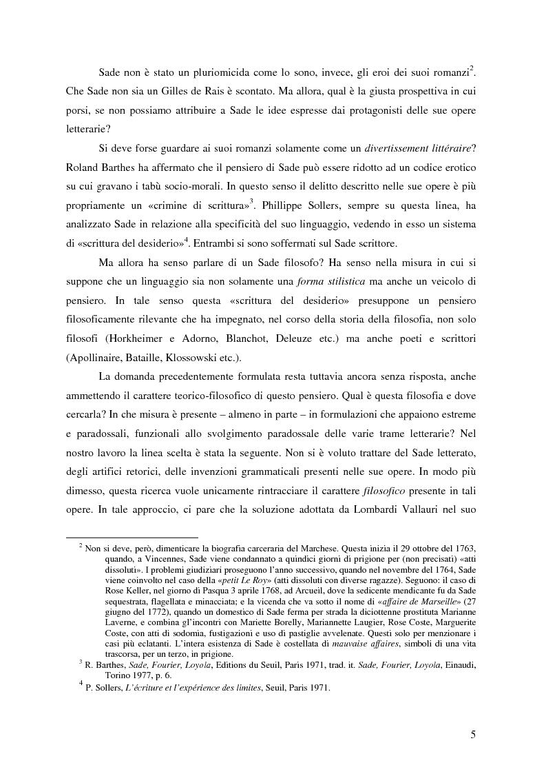 Anteprima della tesi: Natura e antinatura - Spinozismo e antispinozismo nel pensiero sadista, Pagina 2