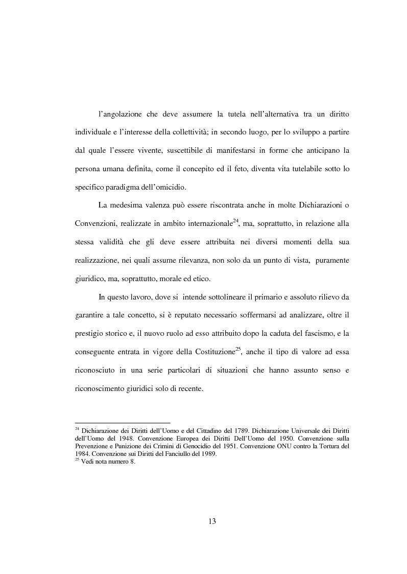 Anteprima della tesi: La tutela penale della vita umana, Pagina 7