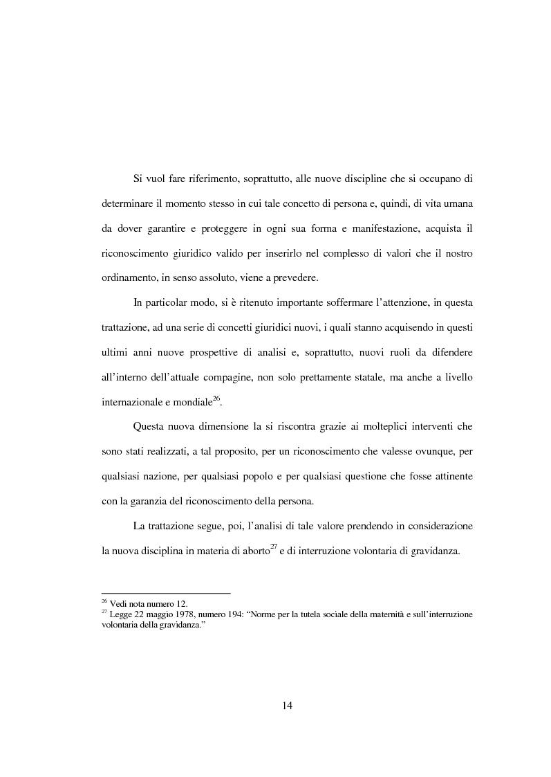 Anteprima della tesi: La tutela penale della vita umana, Pagina 8