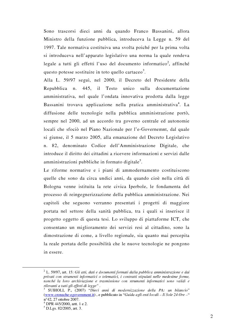 Anteprima della tesi: La prescrizione medica digitale: modello concettuale di Sistema Informativo Sanitario Nazionale, Pagina 2