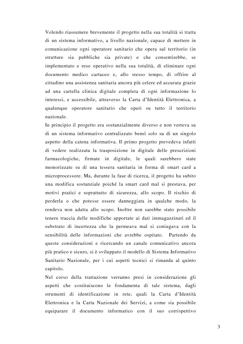 Anteprima della tesi: La prescrizione medica digitale: modello concettuale di Sistema Informativo Sanitario Nazionale, Pagina 3