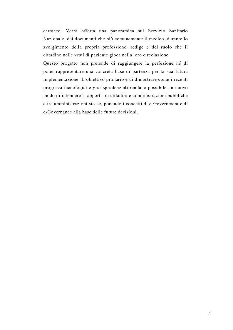 Anteprima della tesi: La prescrizione medica digitale: modello concettuale di Sistema Informativo Sanitario Nazionale, Pagina 4