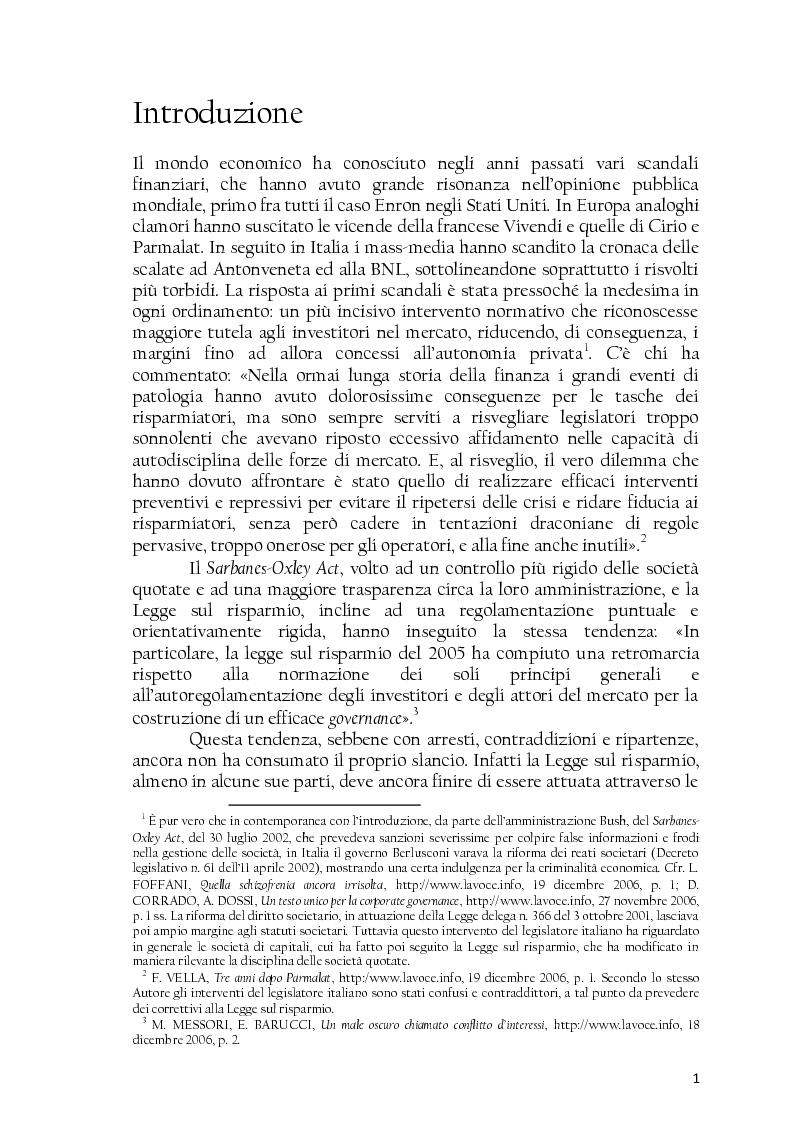 Anteprima della tesi: La società controllata e la quotazione, Pagina 1