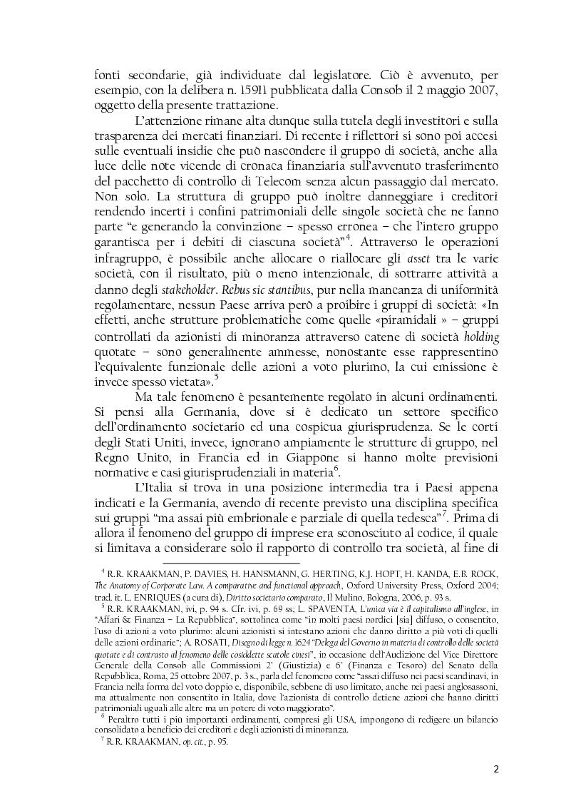 Anteprima della tesi: La società controllata e la quotazione, Pagina 2