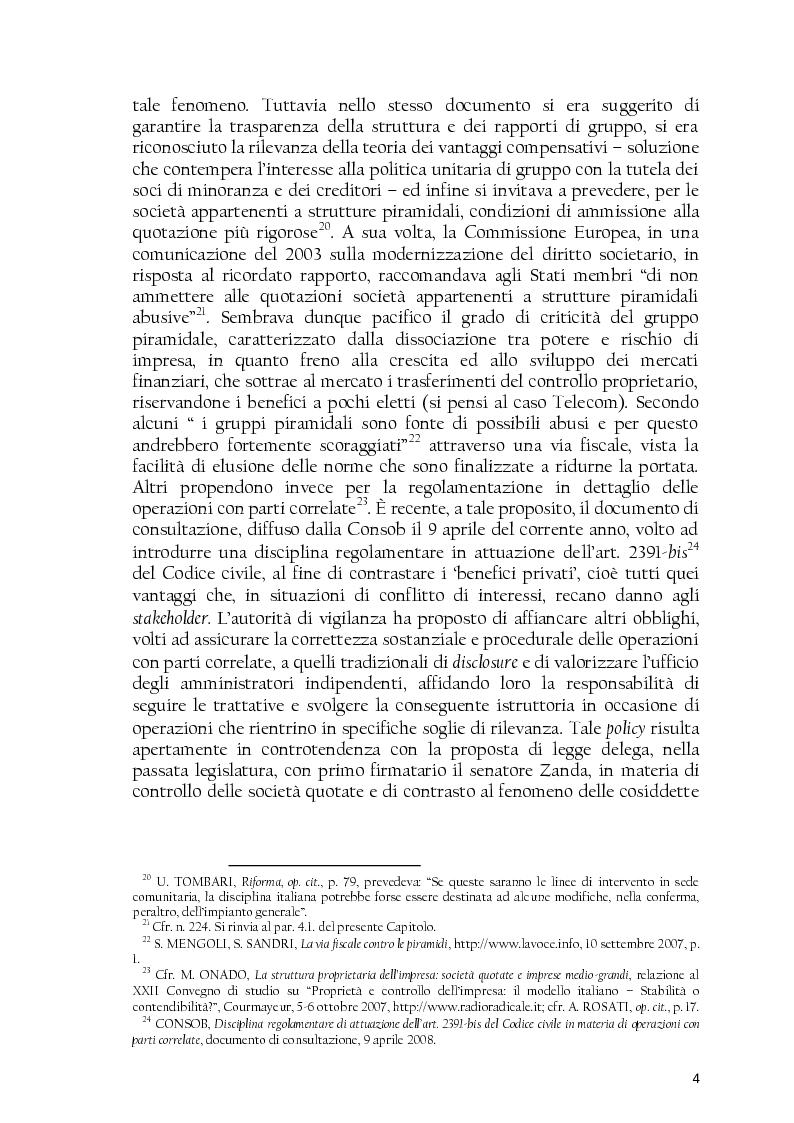 Anteprima della tesi: La società controllata e la quotazione, Pagina 4
