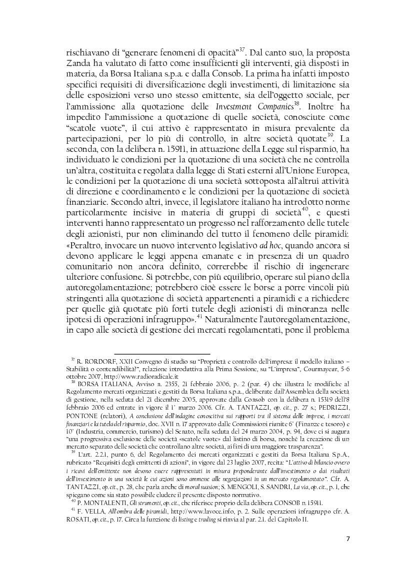 Anteprima della tesi: La società controllata e la quotazione, Pagina 7