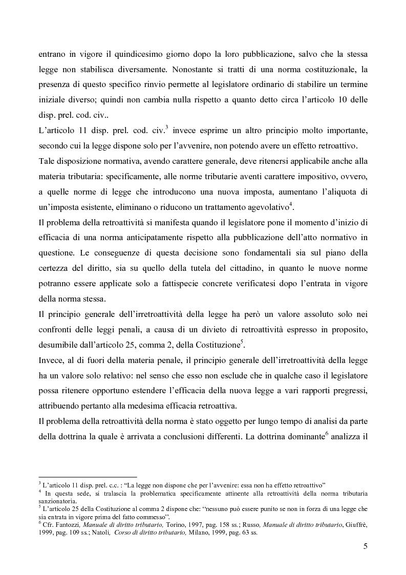 Anteprima della tesi: Il redditometro: questioni inerenti all'applicazione retroattiva, Pagina 3