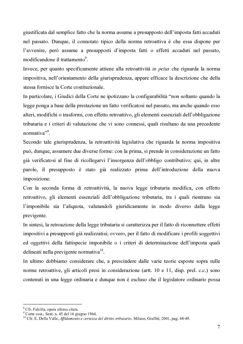 Anteprima della tesi: Il redditometro: questioni inerenti all'applicazione retroattiva, Pagina 5