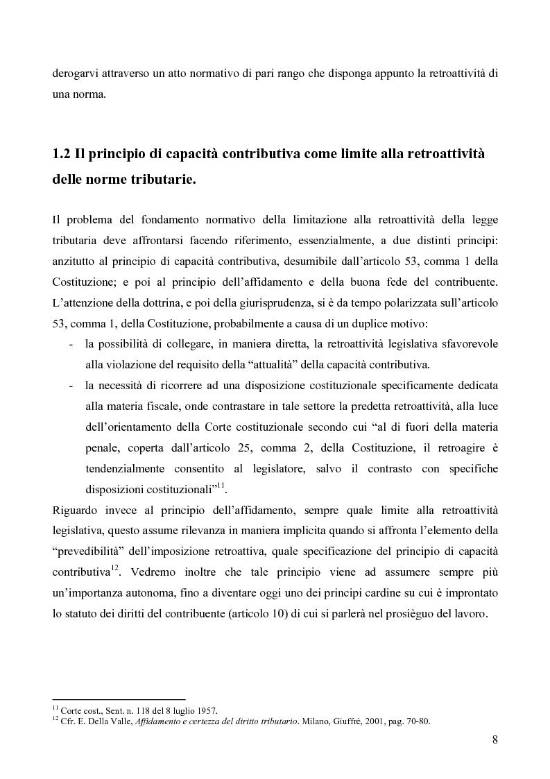 Anteprima della tesi: Il redditometro: questioni inerenti all'applicazione retroattiva, Pagina 6