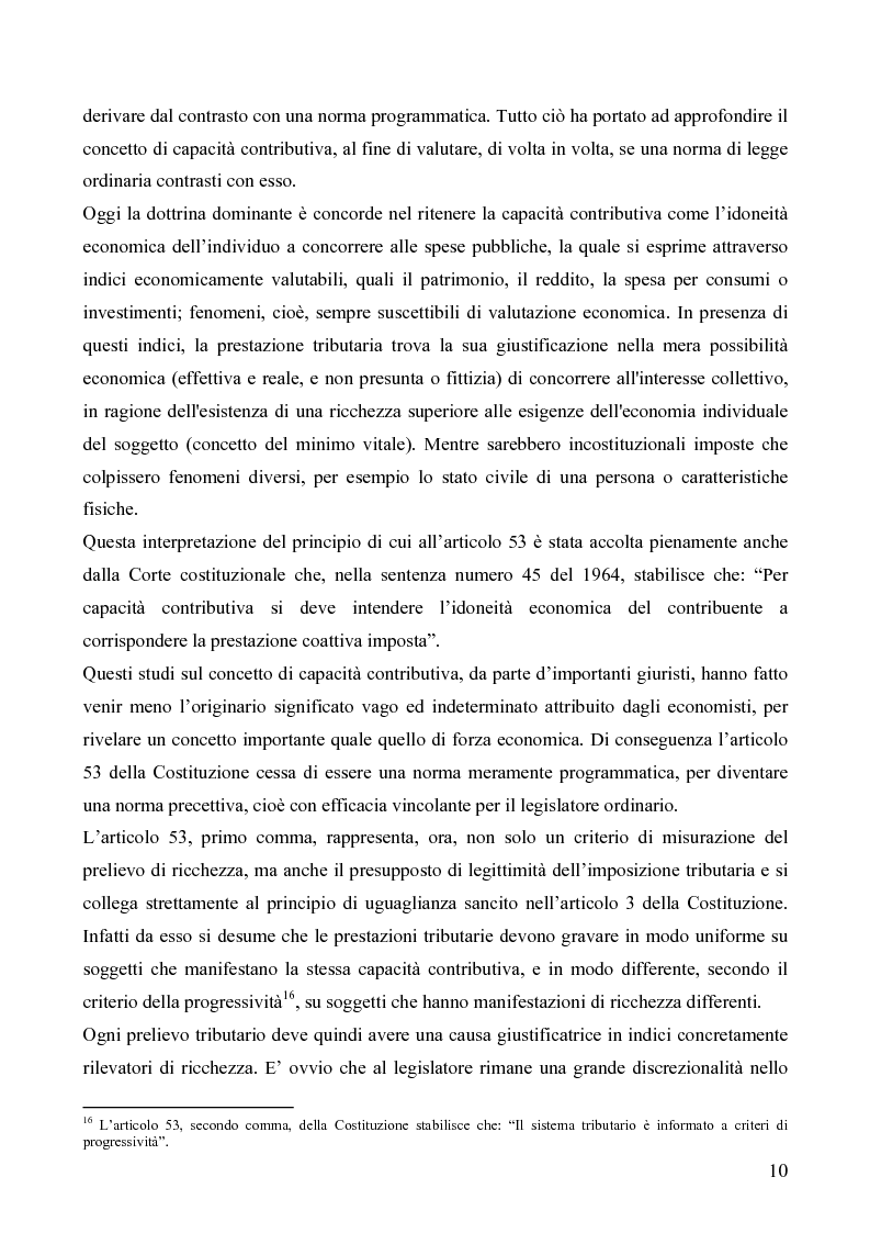 Anteprima della tesi: Il redditometro: questioni inerenti all'applicazione retroattiva, Pagina 8