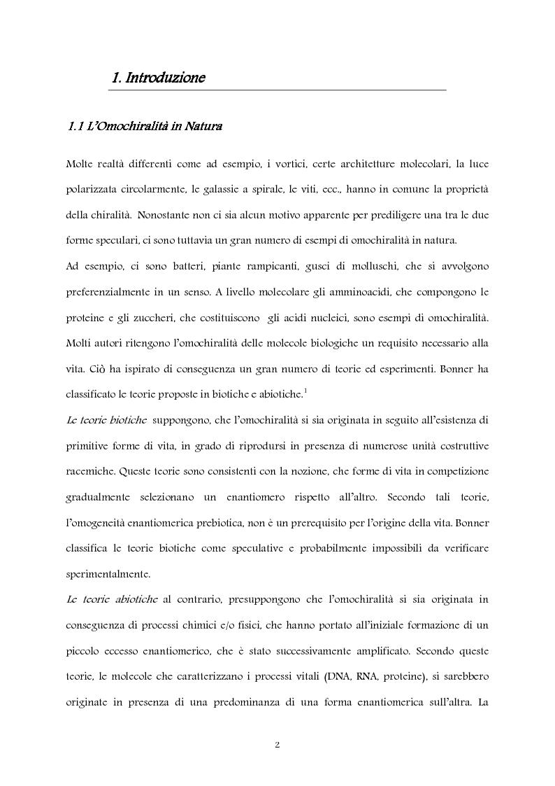 Anteprima della tesi: Studio computazionale del meccanismo della reazione di Soai, Pagina 2