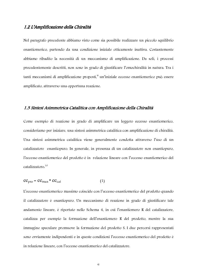 Anteprima della tesi: Studio computazionale del meccanismo della reazione di Soai, Pagina 6