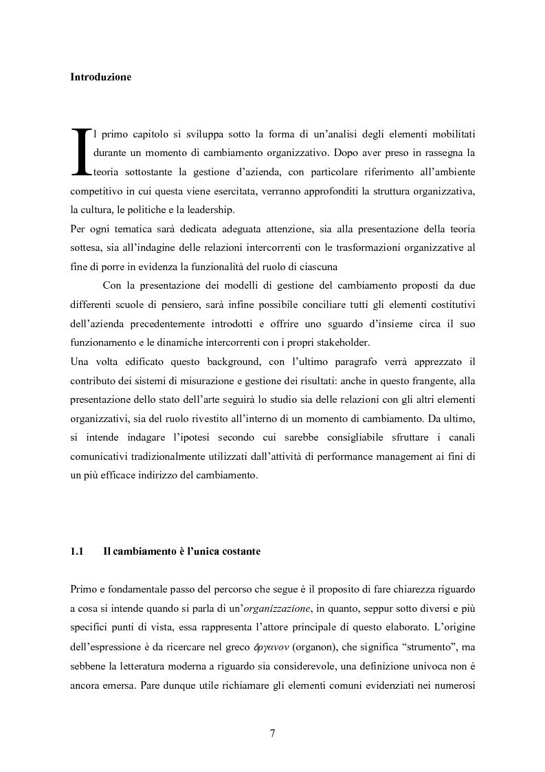 Anteprima della tesi: La balanced scorecard come strumento di gestione del cambiamento organizzativo: il caso dell'Azienda Ospedaliera di Busto Arsizio, Pagina 7