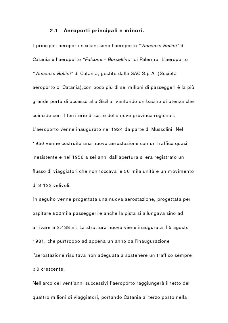 Anteprima della tesi: Il sistema aeroportuale siciliano, Pagina 12