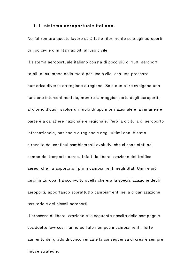 Anteprima della tesi: Il sistema aeroportuale siciliano, Pagina 3