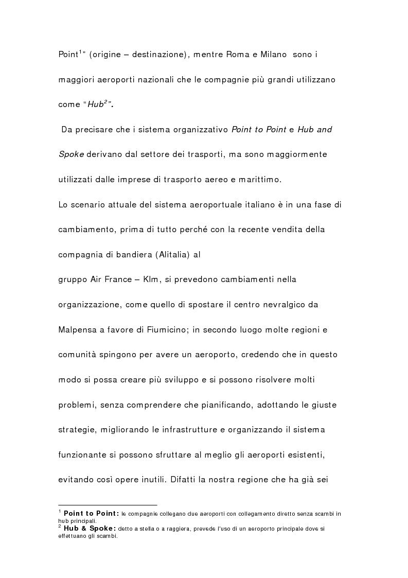 Anteprima della tesi: Il sistema aeroportuale siciliano, Pagina 5