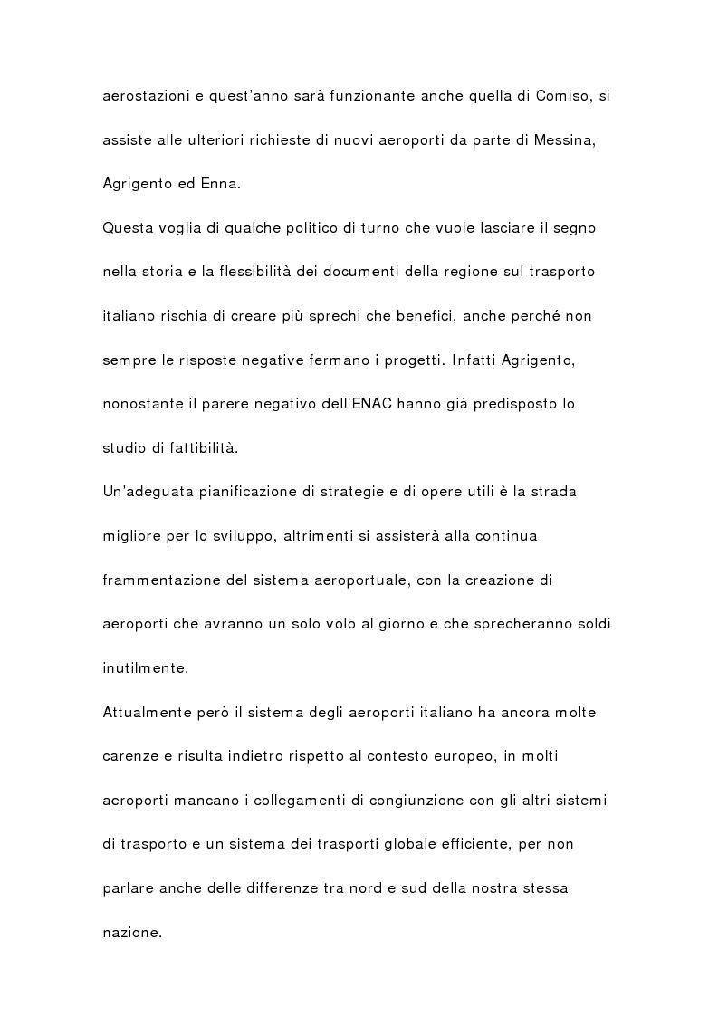 Anteprima della tesi: Il sistema aeroportuale siciliano, Pagina 6