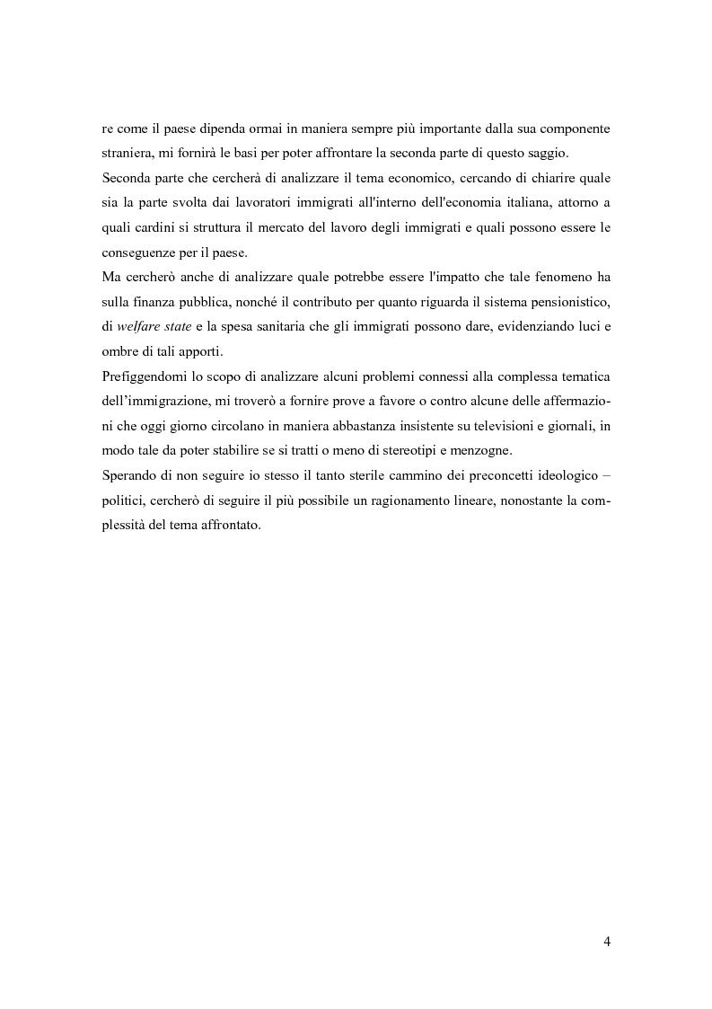 Anteprima della tesi: Le immigrazioni in Italia. Aspetti demografici ed economici, Pagina 3