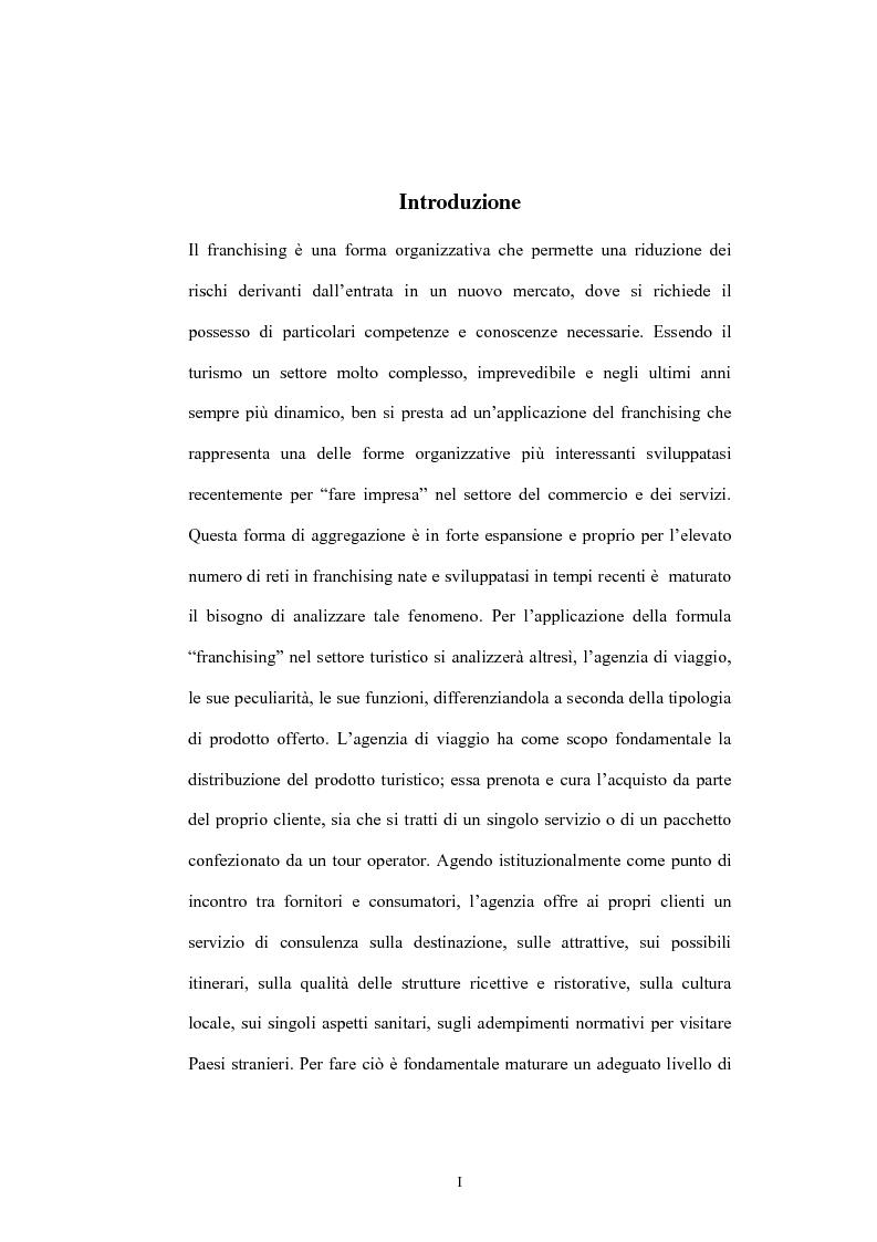 Anteprima della tesi: Il franchising nelle agenzie di viaggio. Il caso Giramondo, Pagina 1
