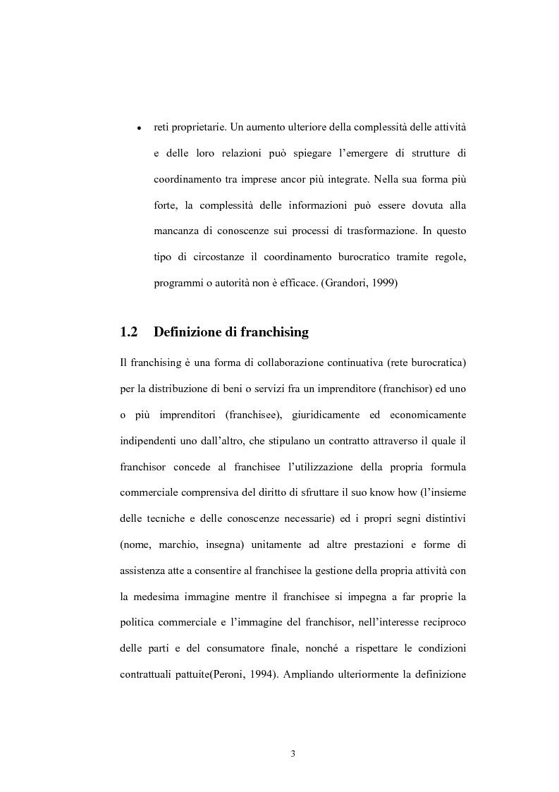 Anteprima della tesi: Il franchising nelle agenzie di viaggio. Il caso Giramondo, Pagina 6