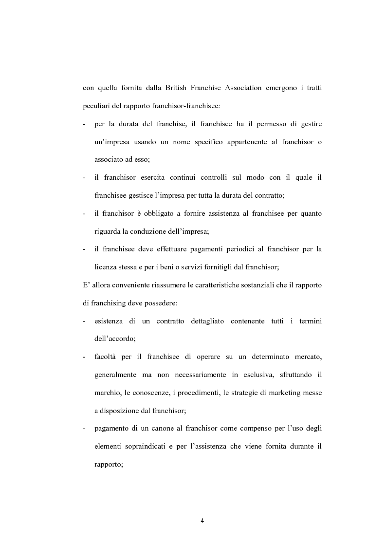Anteprima della tesi: Il franchising nelle agenzie di viaggio. Il caso Giramondo, Pagina 7