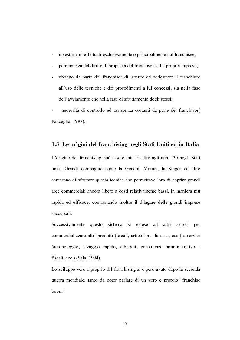 Anteprima della tesi: Il franchising nelle agenzie di viaggio. Il caso Giramondo, Pagina 8