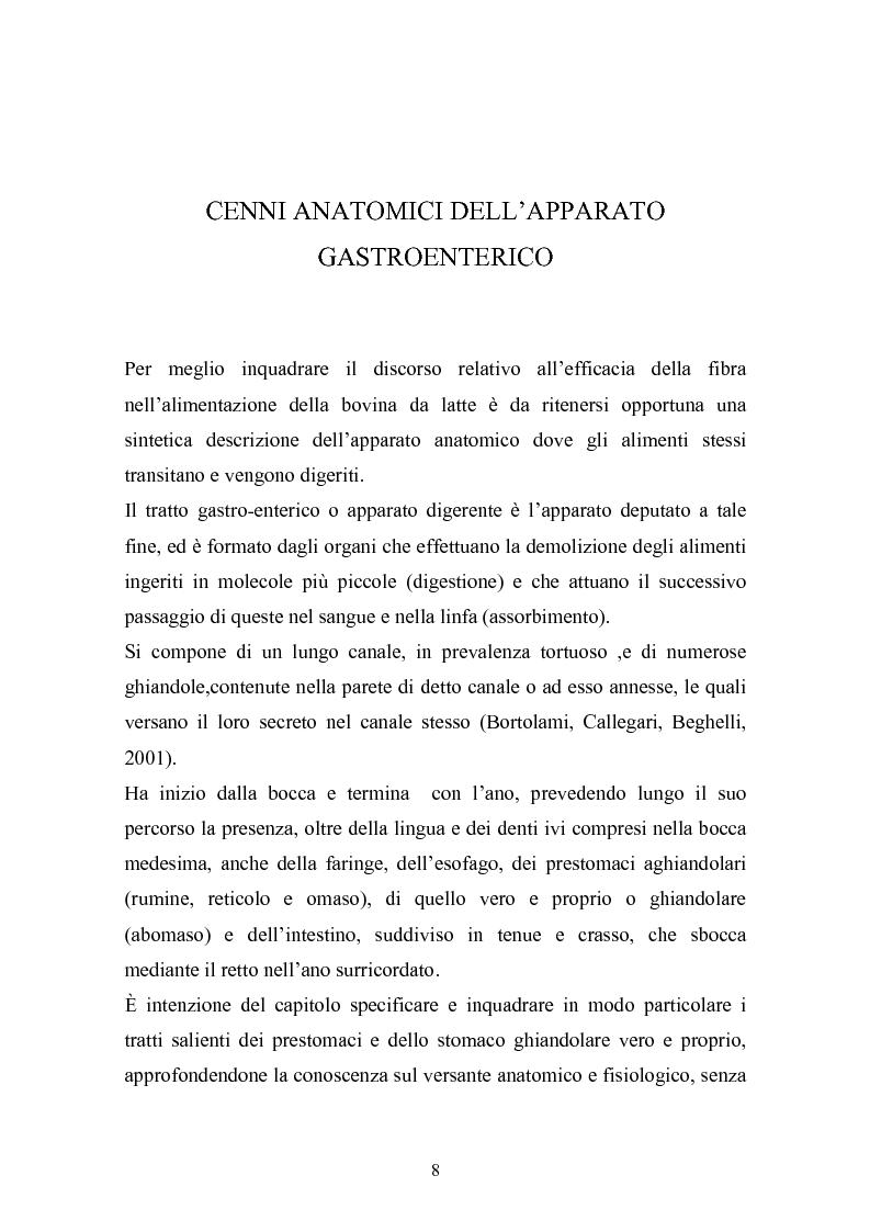 Anteprima della tesi: Valutazione della struttura della fibra in razioni unifeed mediante metodiche di campo, Pagina 4