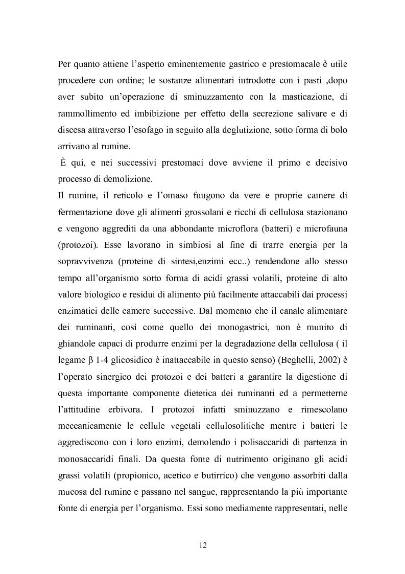 Anteprima della tesi: Valutazione della struttura della fibra in razioni unifeed mediante metodiche di campo, Pagina 8