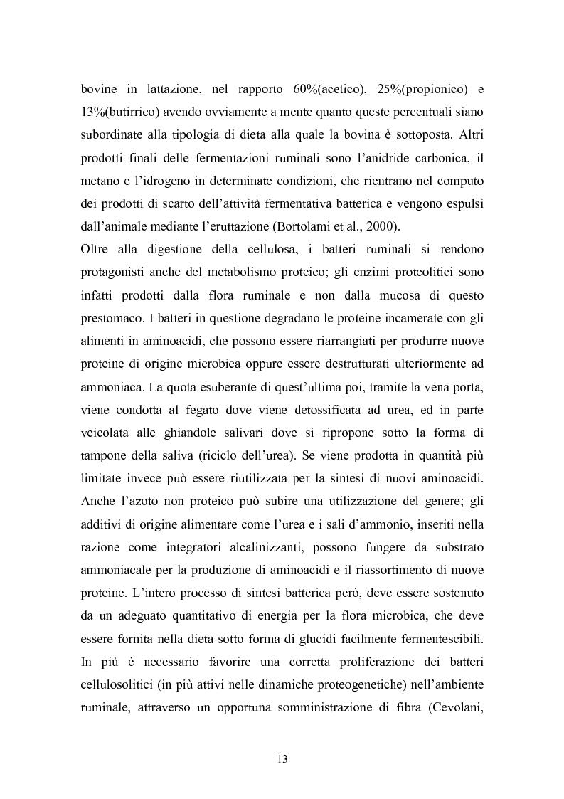 Anteprima della tesi: Valutazione della struttura della fibra in razioni unifeed mediante metodiche di campo, Pagina 9