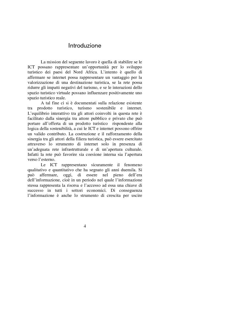 Anteprima della tesi: Le opportunità di Internet per il turismo africano: l'esperienza del Marocco, Pagina 1