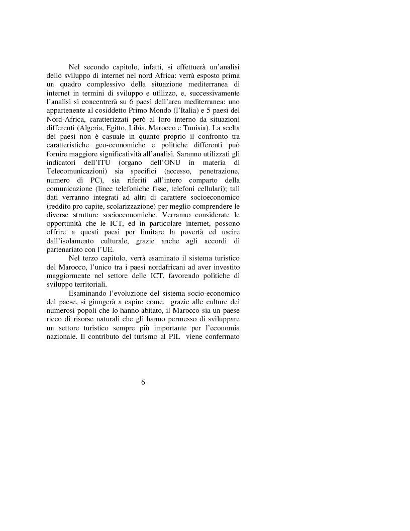 Anteprima della tesi: Le opportunità di Internet per il turismo africano: l'esperienza del Marocco, Pagina 3