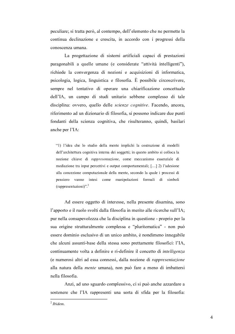 Anteprima della tesi: Artificial Intelligence. Un programma di ricerca filosofico, Pagina 2