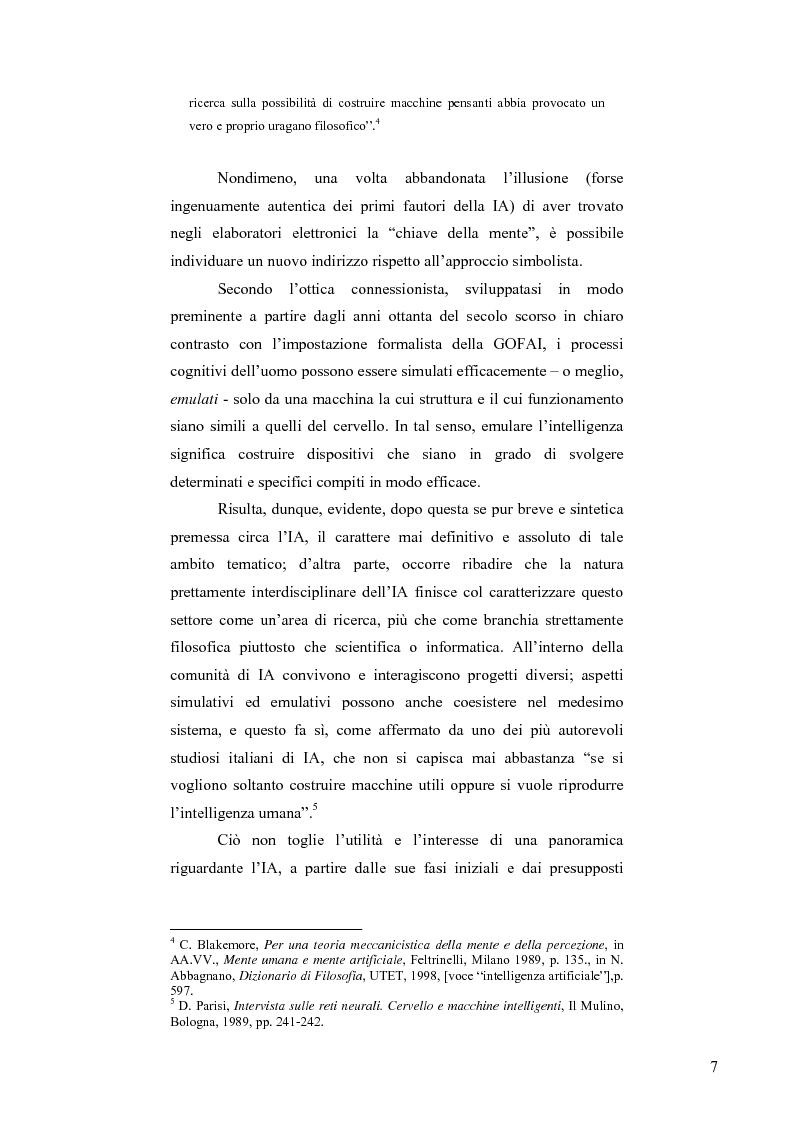 Anteprima della tesi: Artificial Intelligence. Un programma di ricerca filosofico, Pagina 5